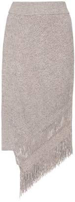 Stella McCartney Asymmetrical cashmere and wool skirt