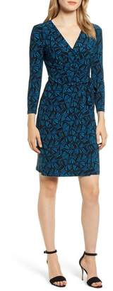 Anne Klein Josephine Print Faux Wrap Dress