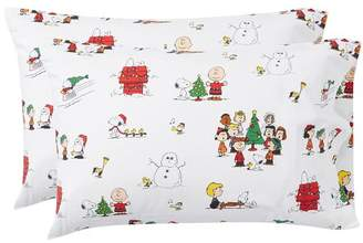 Pottery Barn Teen Peanuts® Flannel Pillowcases, Set of 2, White