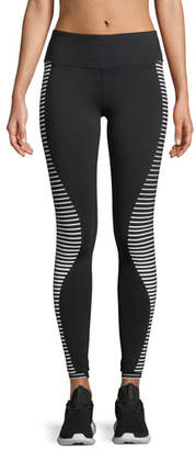 Alo Yoga Airbrush Wave-Stripe Sport Leggings