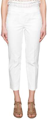 Michael Kors (マイケル コース) - White Gabardine Trousers