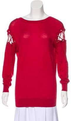IRO Aluna Cold-Shoulder Sweater