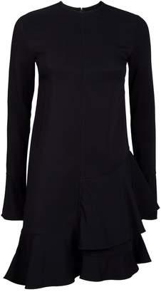 Victoria Beckham Frill Hem Mini Dress
