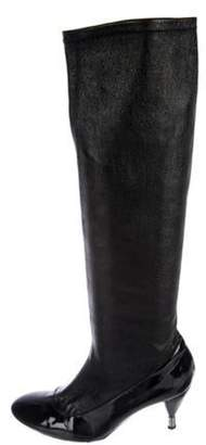 Fratelli Rossetti Leather Knee-High Boots Black Leather Knee-High Boots