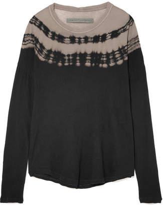 Raquel Allegra Tie-dyed Cotton-jersey Top - Black