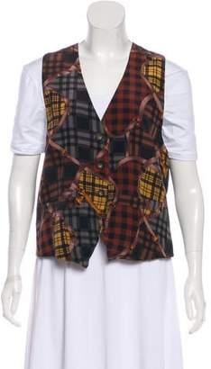Bergdorf Goodman Silk Satin Printed Vest