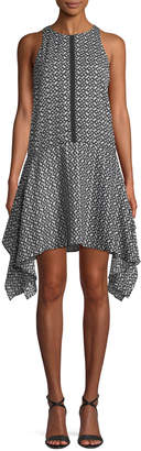 Ali & Jay Ikat Handkerchief-Hem Dress