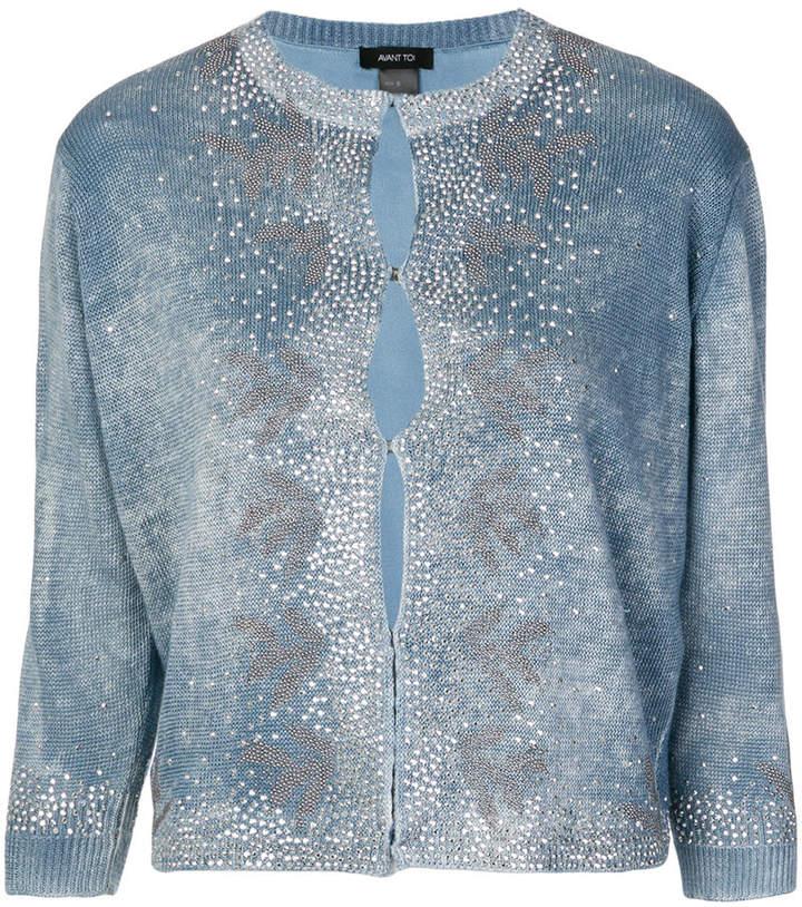 crystal embellsihed sweater