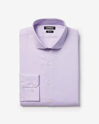 Express Slim Pin Dot Dress Shirt