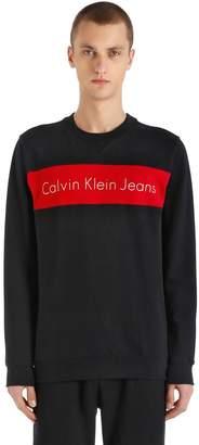 Calvin Klein Jeans Logo Print Cotton Sweatshirt