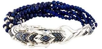 John Hardy Lapis & Sapphire Naga Multi Row Bracelet