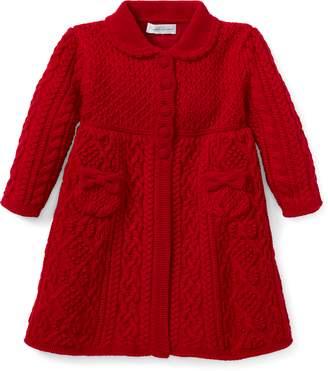 Ralph Lauren Aran-Knit Wool Sweater Coat