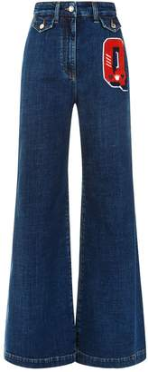 Dolce & Gabbana High Waisted Wide Leg Jeans