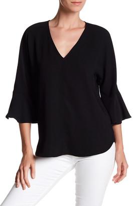 Pleione 3/4 Length Bell Sleeve Shirt $64 thestylecure.com