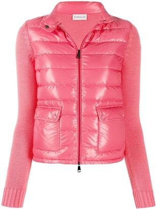 Moncler wool detailed puffer jacket