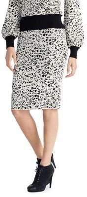 Rachel Roy Leopard Print Skirt