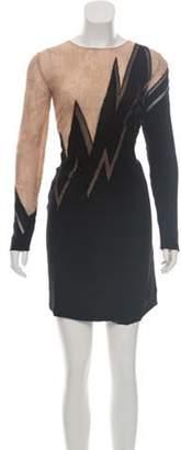 Emilio Pucci Embellished Lace Mini Dress Black Embellished Lace Mini Dress