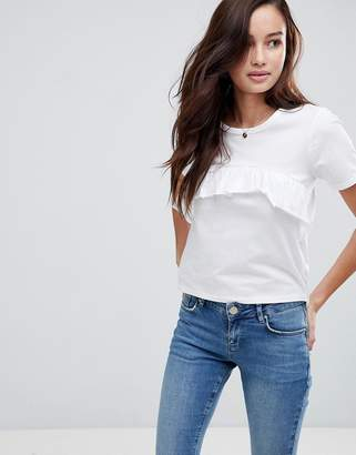 Brave Soul T-Shirt With Frill Front