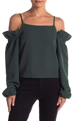 Romeo & Juliet Couture Cold Shoulder Ruffle Blouse