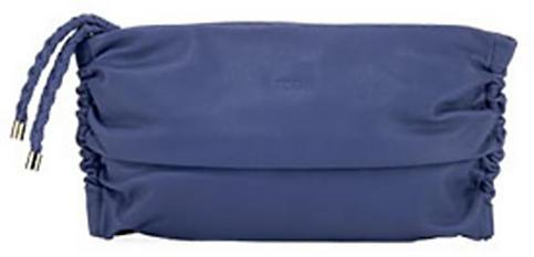 Tod's Softy Pochette, Ink Blue