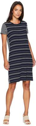 Vince Camuto Short Sleeve Mixed Stripe T-Shirt Dress Women's Dress