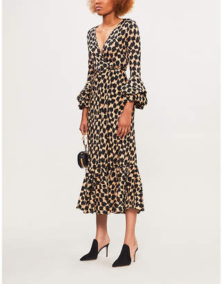 At Selfridges Diane Von Furstenberg Leopard Print Silk Jersey Wrap Dress