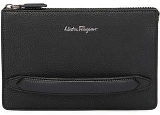 Salvatore Ferragamo Men's Firenze Leather Pouch with Handle