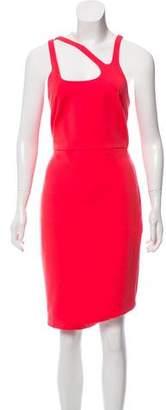 Halston Asymmetrical Neckline Knee-Length Dress w/ Tags
