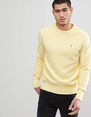 Polo Ralph Lauren Crewneck Sweatshirt Polo Player In Washed Yellow