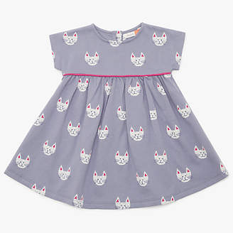 John Lewis & Partners Baby Cat Face Dress, Grey