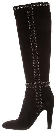 pradaPrada Eyelet Suede Boots