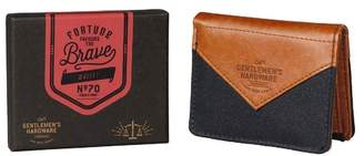 Charcoal Canvas Wallet