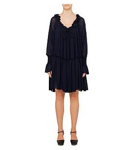 See by Chlo Tie Neck Loose Fit Dress