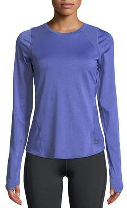 Under Armour Perpetual Long-Sleeve Cutout-Back Performance Top