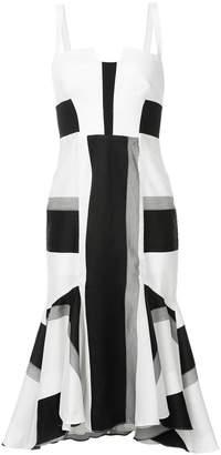 Kimora Lee Simmons striped dress with flare hem
