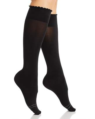 Hue Graduated Compression Opaque Knee-High Socks