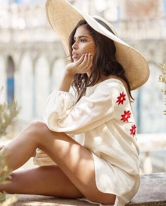 SUNDRESS Daisy Mimi Dress - XS/S - White/Red
