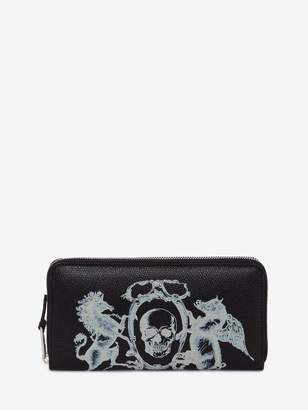 Alexander McQueen Coat Of Arms Zipper Wallet
