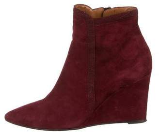 Aquatalia Point-Toe Wedge Booties