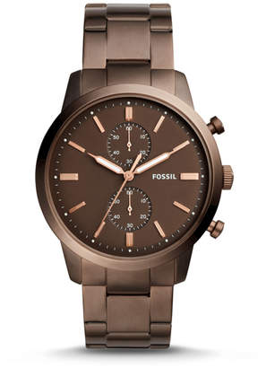 Fossil Townsman 44mm Chronograph Brown Stainless Steel Watch