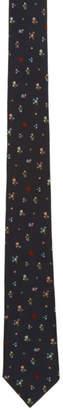 Paul Smith Navy Silk Flowers Tie