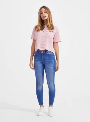 Miss Selfridge Petite lizzie buzzy blue jeans