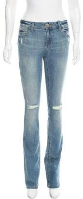 DL1961 Distressed Straight-Leg Jeans w/ Tags