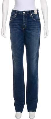 Amo High-Rise Straight-Leg Jeans w/ Tags