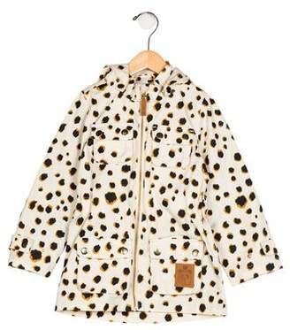 Mini Rodini Girls' Hooded Printed Coat