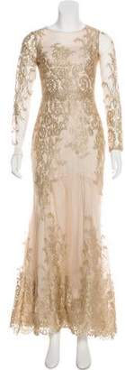 Marchesa Embroidered Maxi Dress