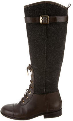 Tory BurchTory Burch Woven Lace-Up Boots