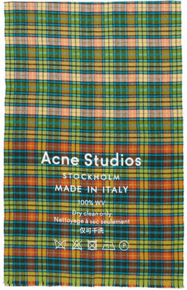 Acne Studios Multicolor Cassiar Check Scarf