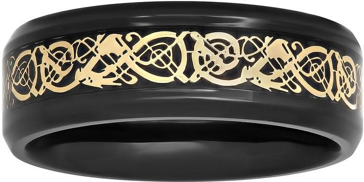 Celtic SheepskinMODERN BRIDE Mens Two-Tone Celtic Dragon 8mm Wedding Band