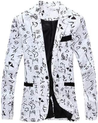 d338835e1d676 GRMO-Men 1 Button Printed Floral Lapel Casual Suit Jacket US L